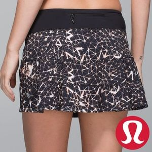 lululemon Pace Rival Skirt Sugar Crush Black Multi